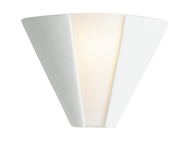 Unglazed Ceramic Wall Lights : Firstlight Ceramic Wall Light, Unglazed With Acid White Glass - C332UN from Easy Lighting